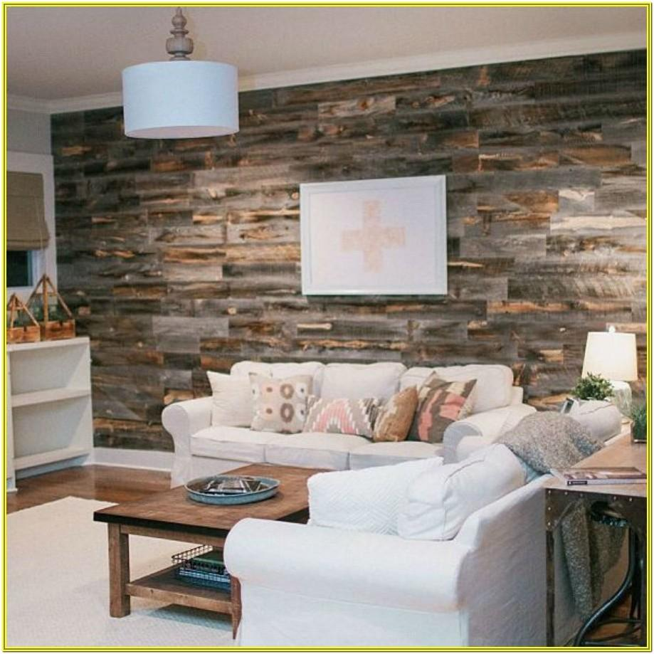 Living Room Wood Accent Wall Ideas