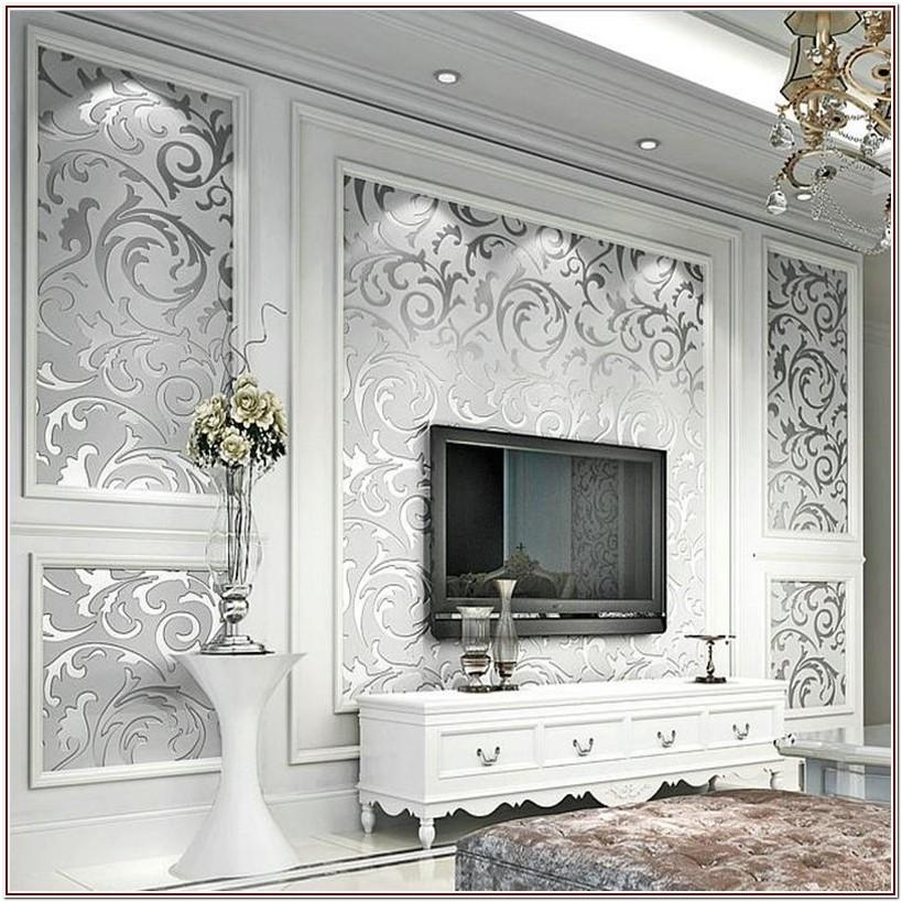 Luxury Wallpaper For Living Room Modern