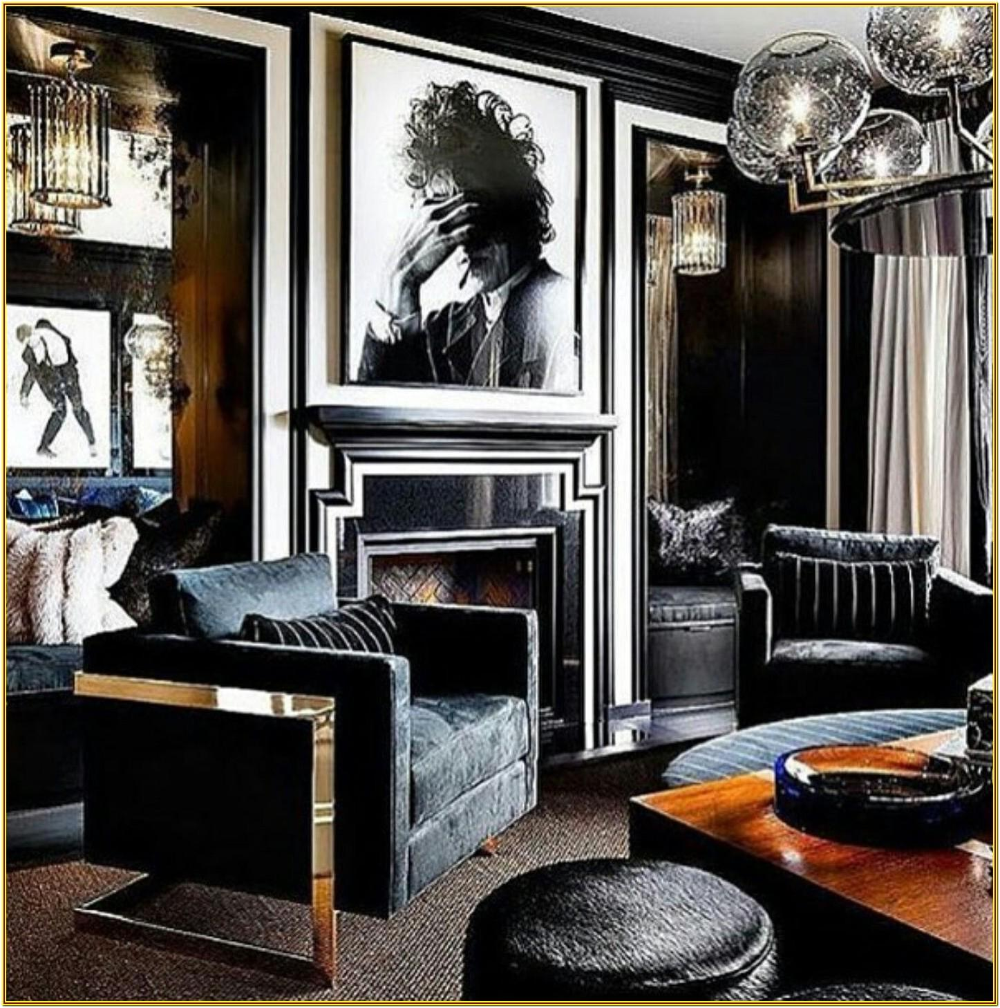 Manly Living Room Decor