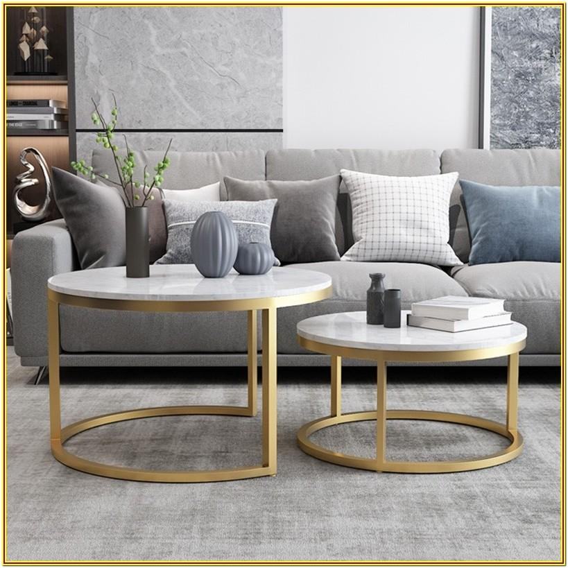 Marble Living Room Table Set