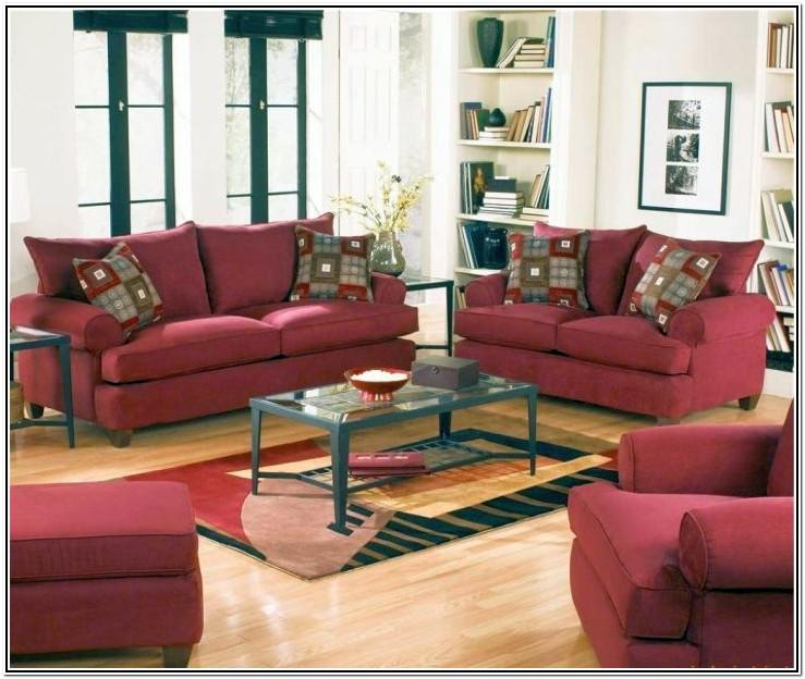 Maroon And White Living Room Ideas