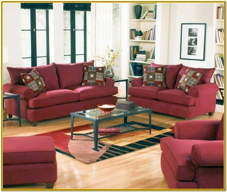 Maroon Couch Living Room