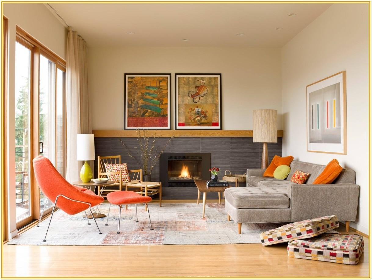 Mid Century Living Room Designs