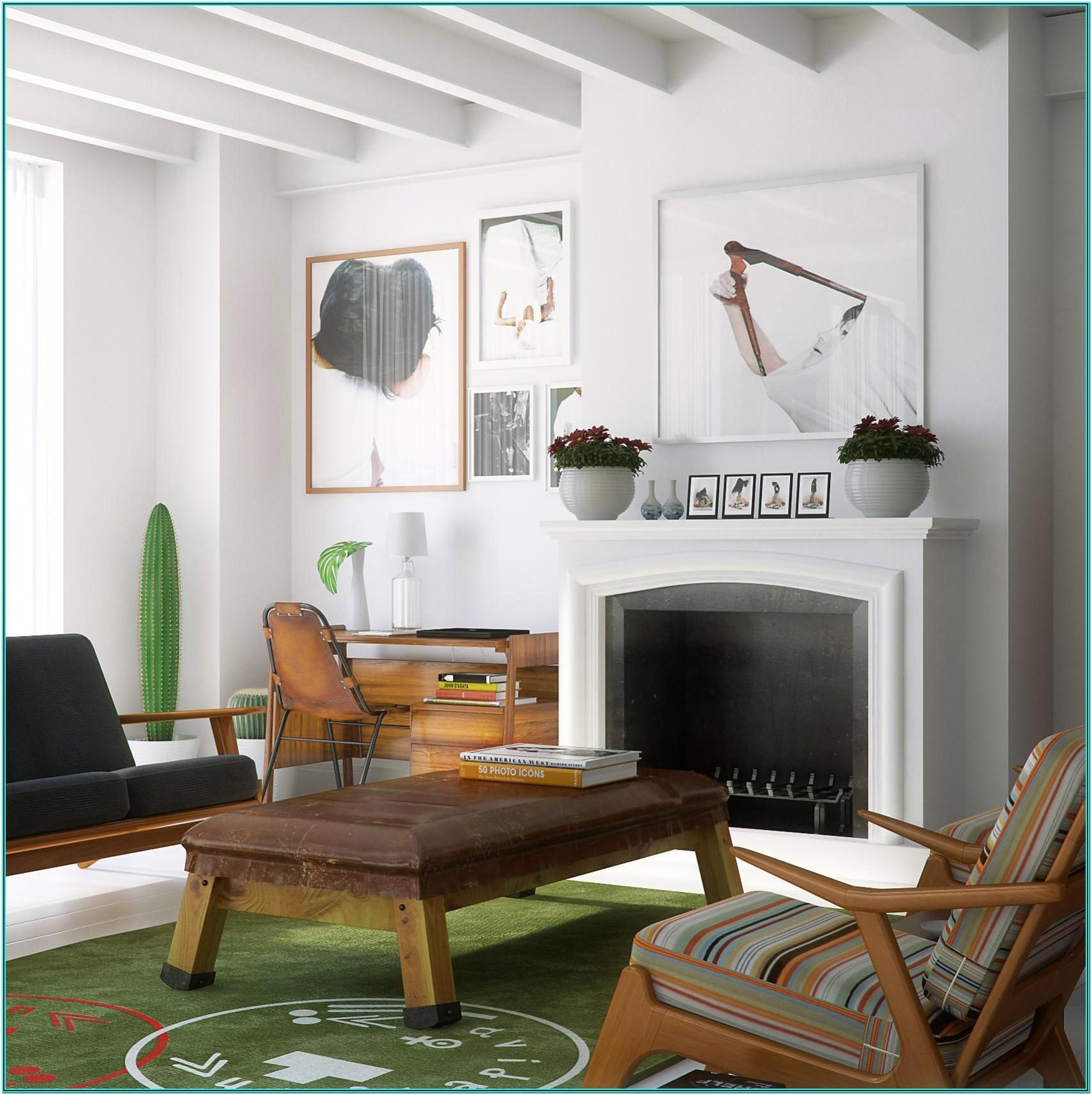 Mid Century Modern And Traditional Living Room