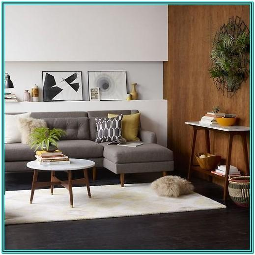 Mid Century Modern Living Room Gray Couch