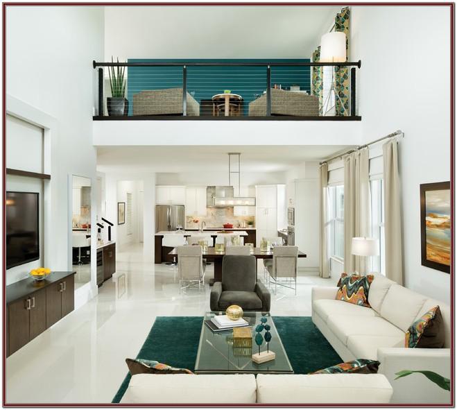 Model Home Modern Living Room Decor