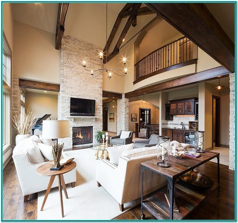 Modern And Rustic Living Room