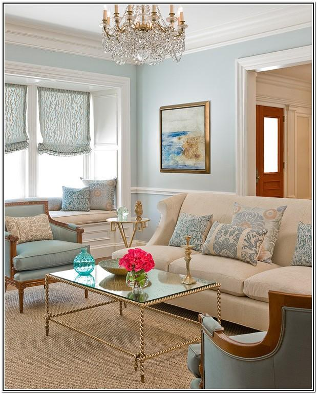 Modern Beige And Blue Living Room Ideas