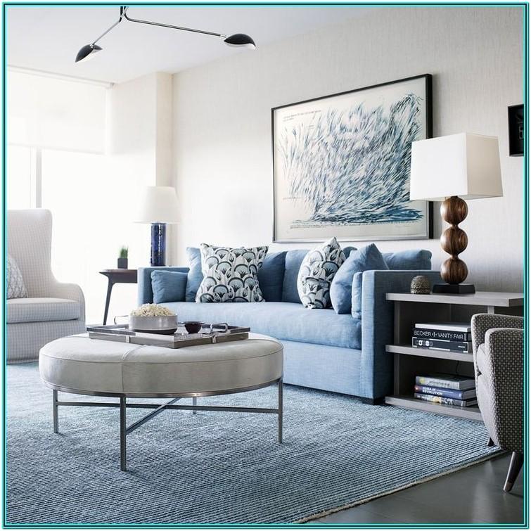 Modern Blue Sofa Living Room