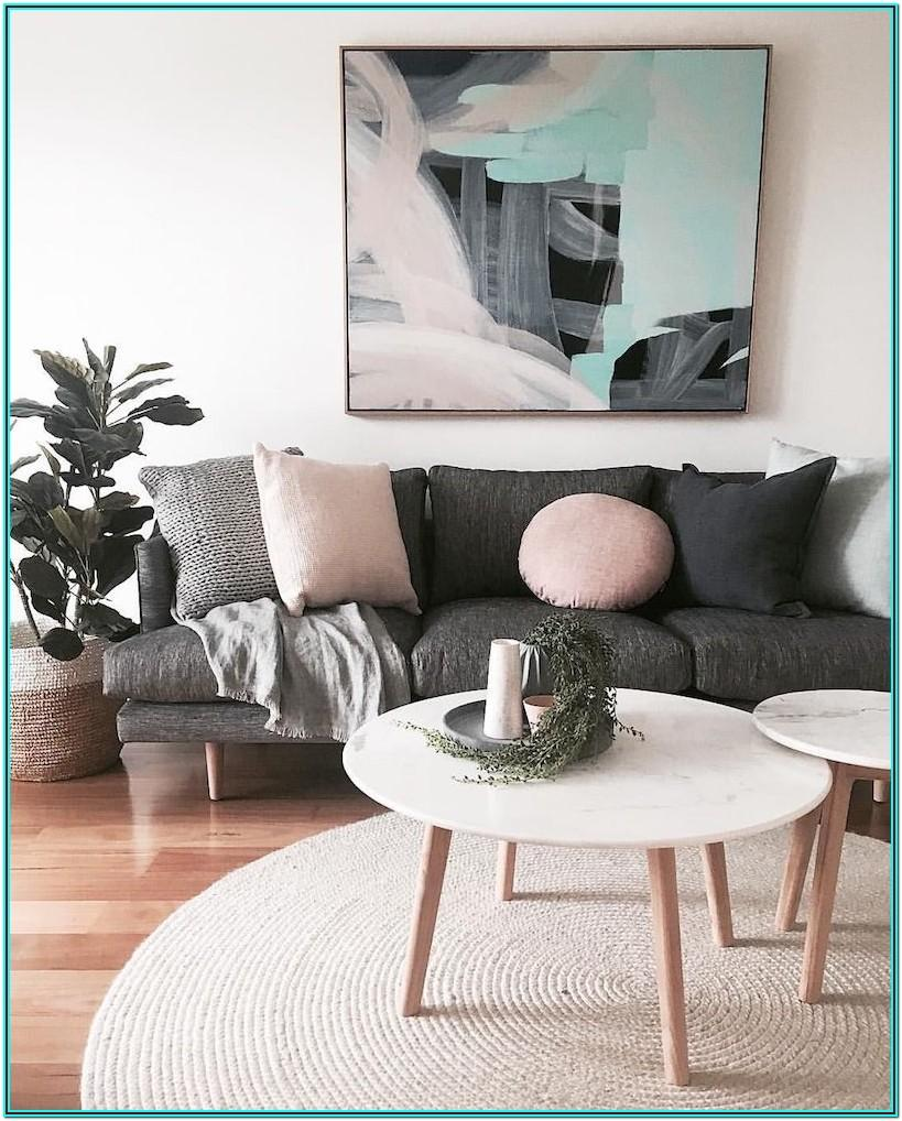 Modern Dark Gray Couch Living Room Ideas