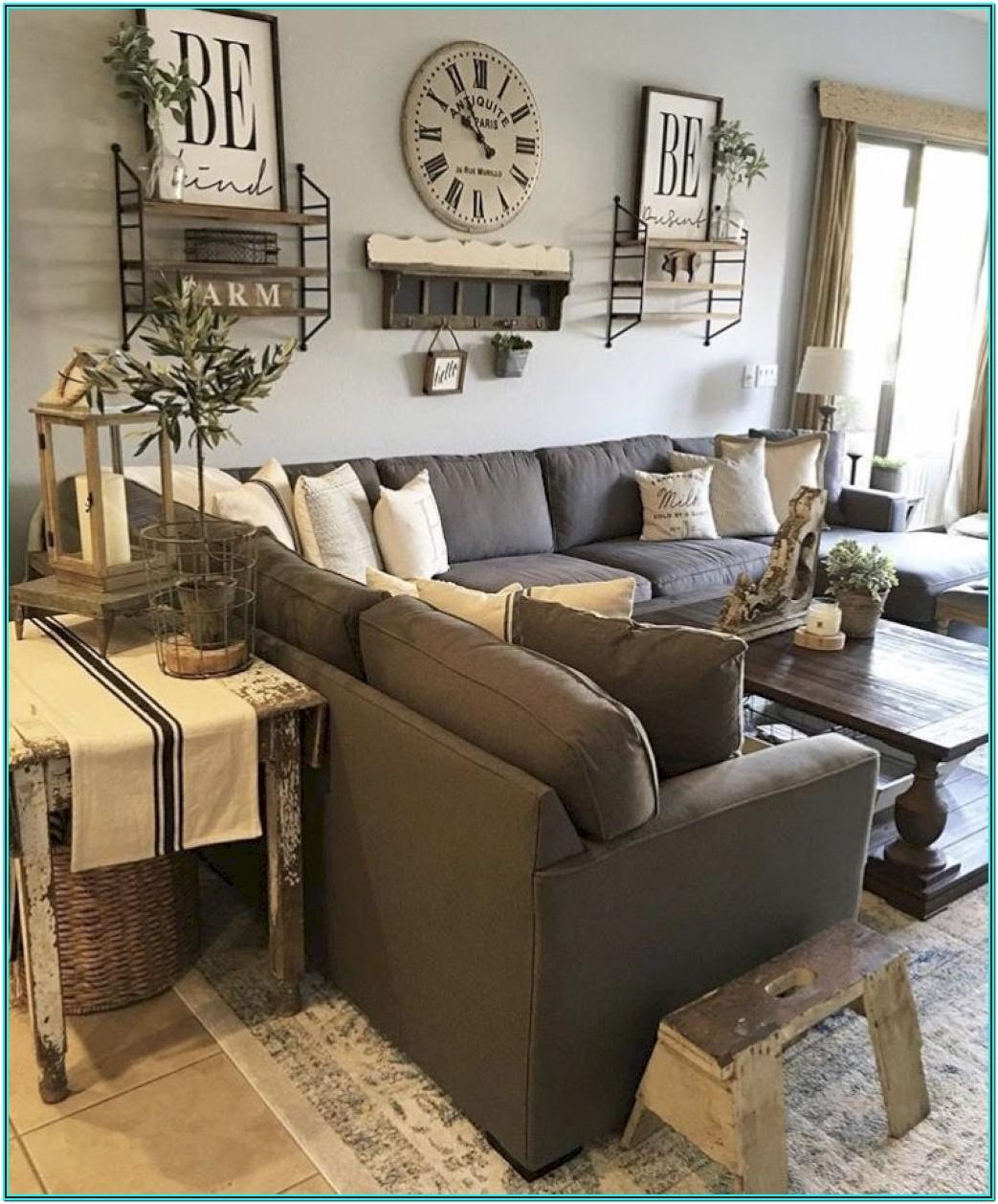 Modern Farmhouse Living Room Gray Couch
