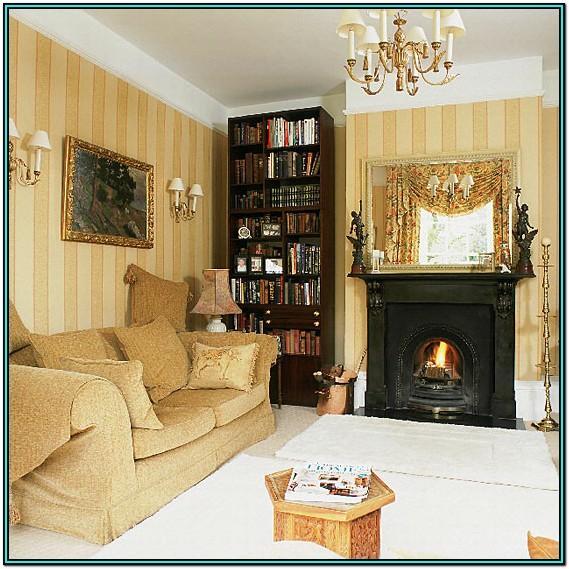Modern Gold Wallpaper Living Room Ideas