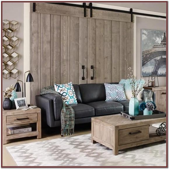 Modern Grey Leather Sofa Living Room Ideas