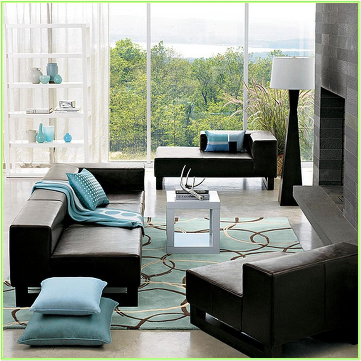 Modern Living Room Black Couch