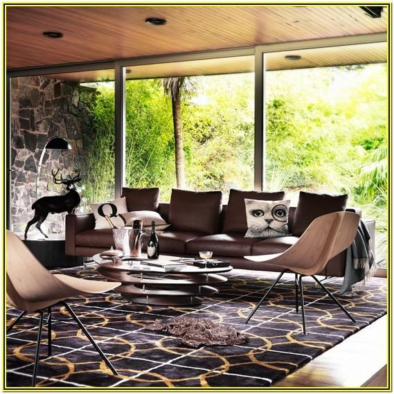 Modern Living Room Ideas With Brown Leather Couch