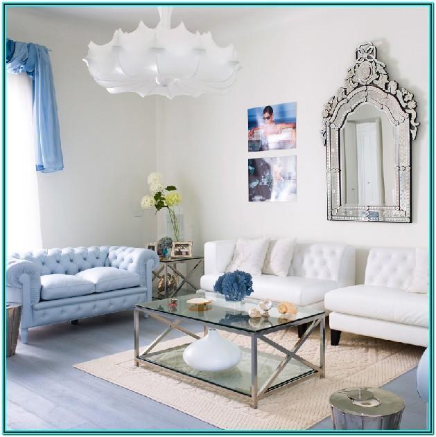 Modern Living Room Light Blue Sofa