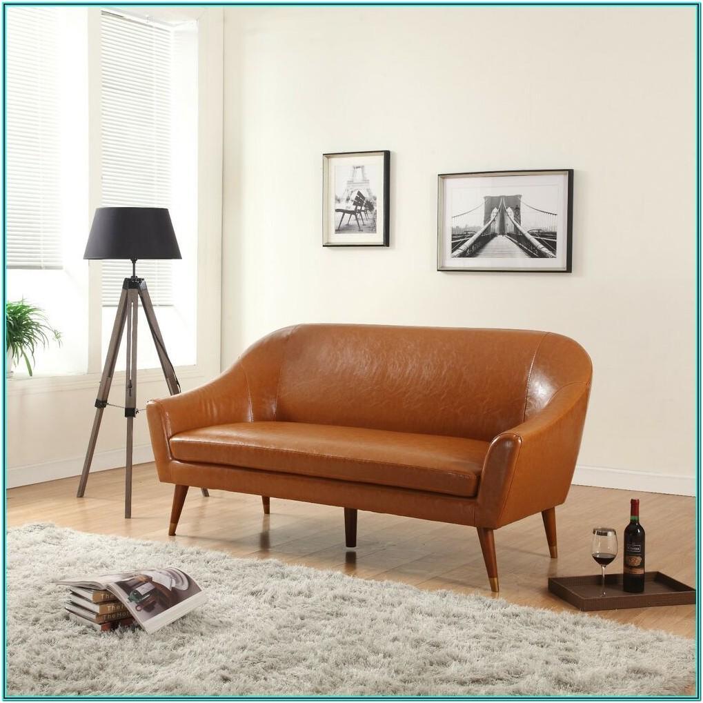 Modern Living Room Modern Blue Leather Sofa