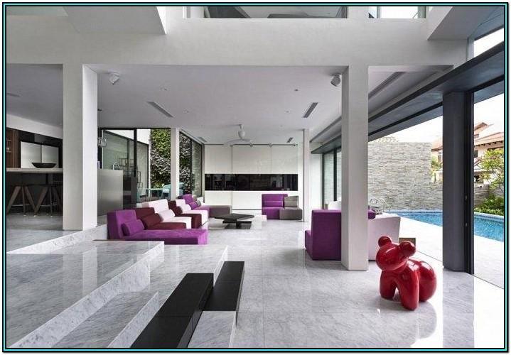 Modern Living Room Sliding Doors Interior