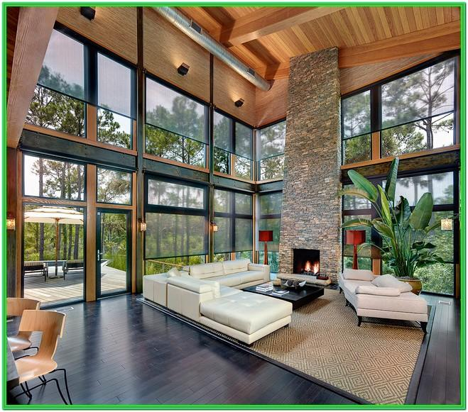 Modern Living Room Window Decor