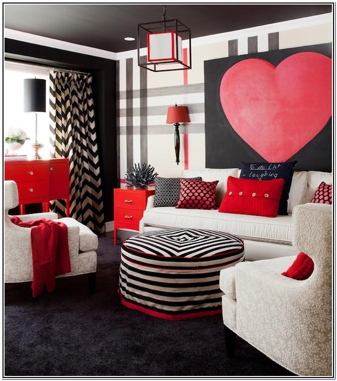Modern Red And White Living Room Ideas