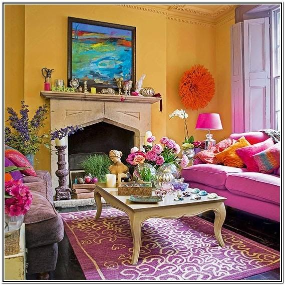 Modern Red And Yellow Living Room Ideas