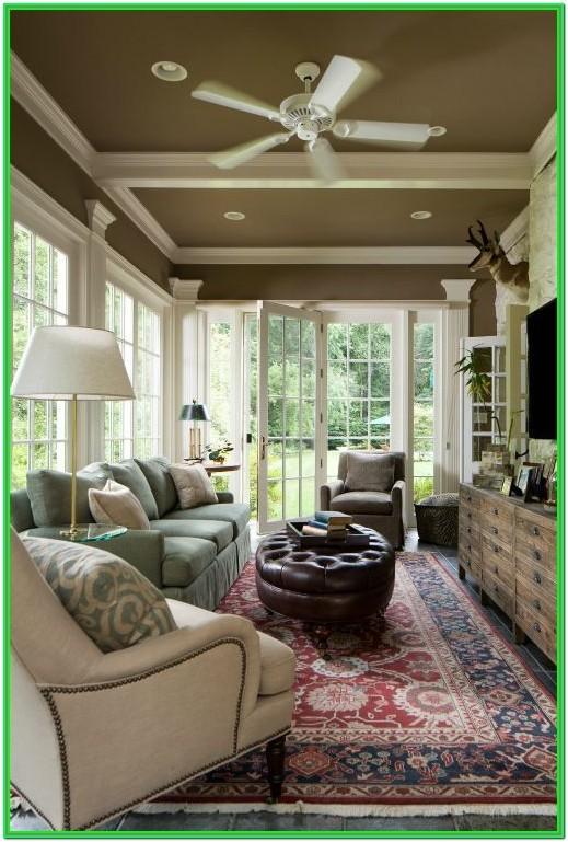 Narrow Living Room With Patio Doors
