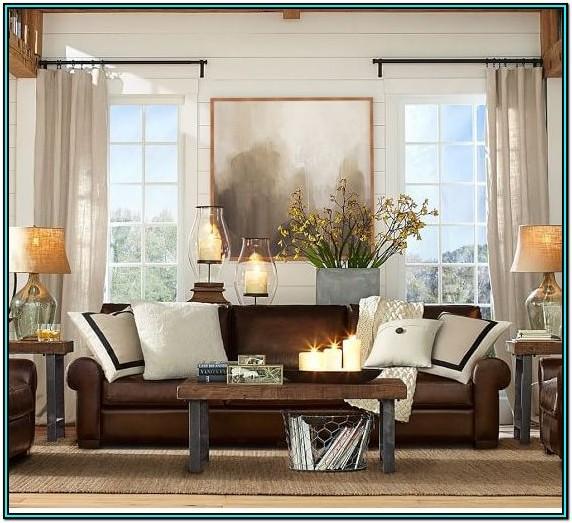 Neutral Dark Brown Couch Living Room Ideas