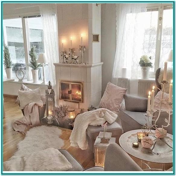 Pink And Rose Gold Living Room Ideas