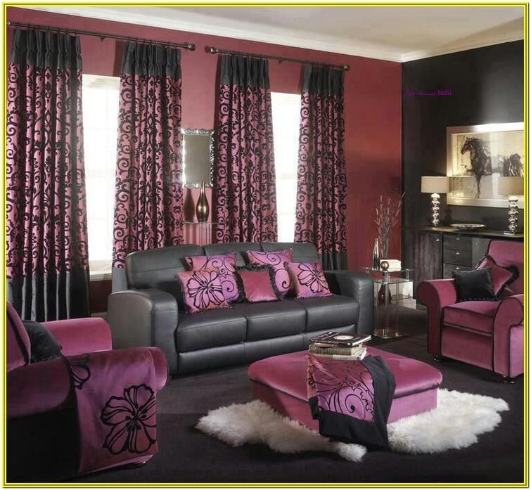 Purple And Black Living Room Ideas
