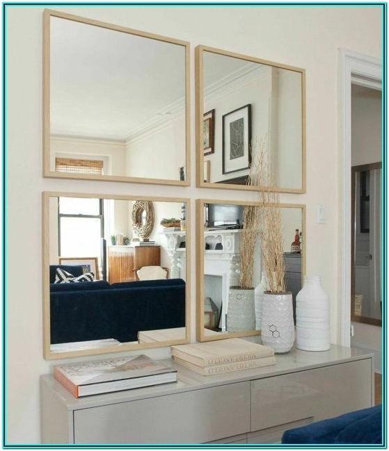 Rectangle Mirror Design For Living Room