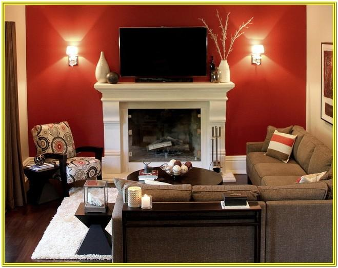 Red Accent Wall Living Room Ideas