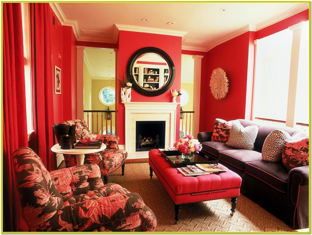 Red And Black Living Room Ideas