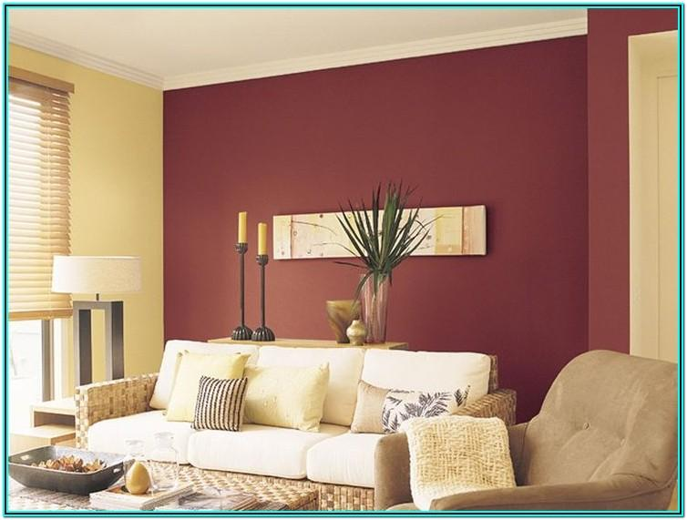 Red Feature Wall Living Room Ideas