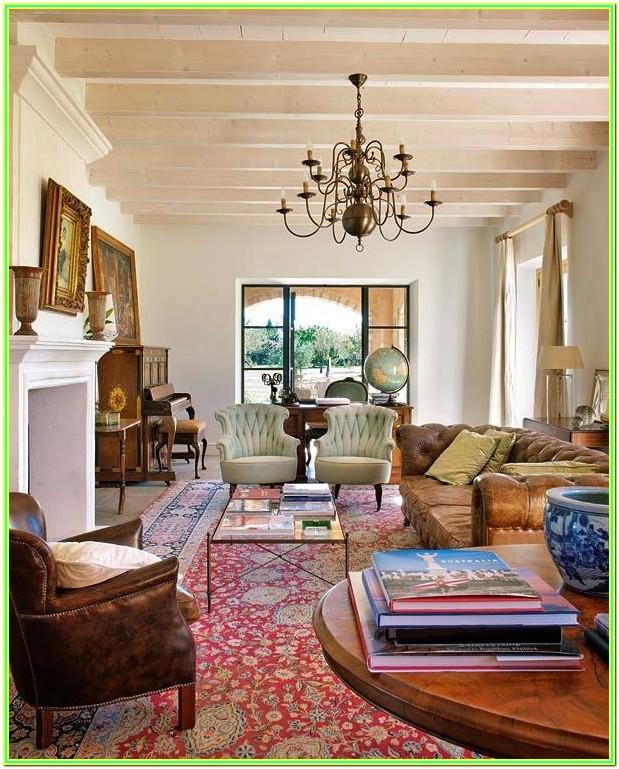 Red Persian Rug Living Room