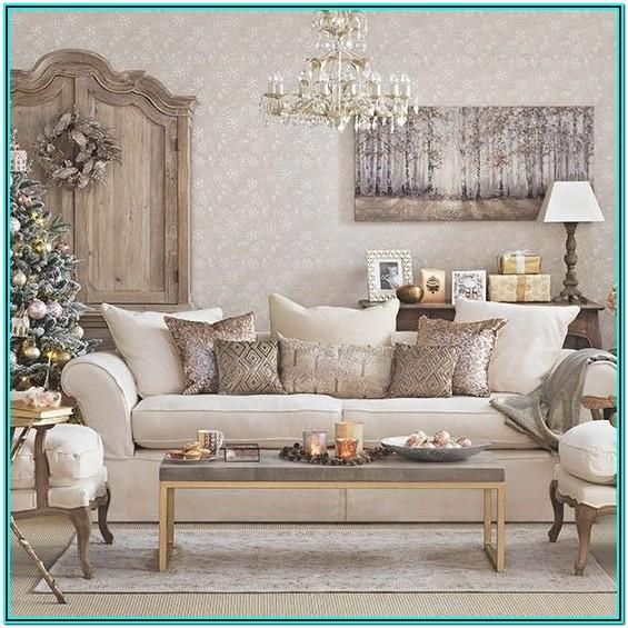 Rose Gold And Brown Living Room Ideas