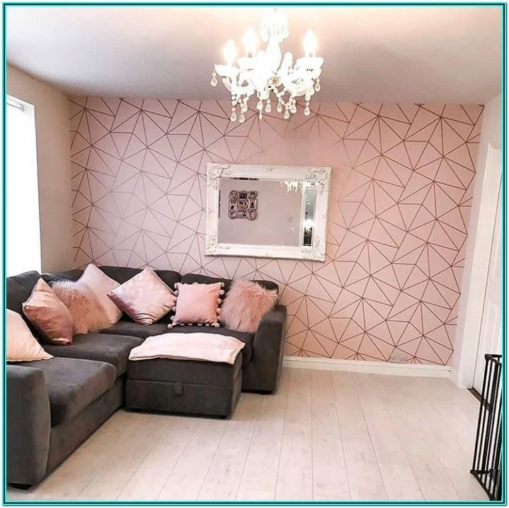 Rose Gold And Cream Living Room Ideas