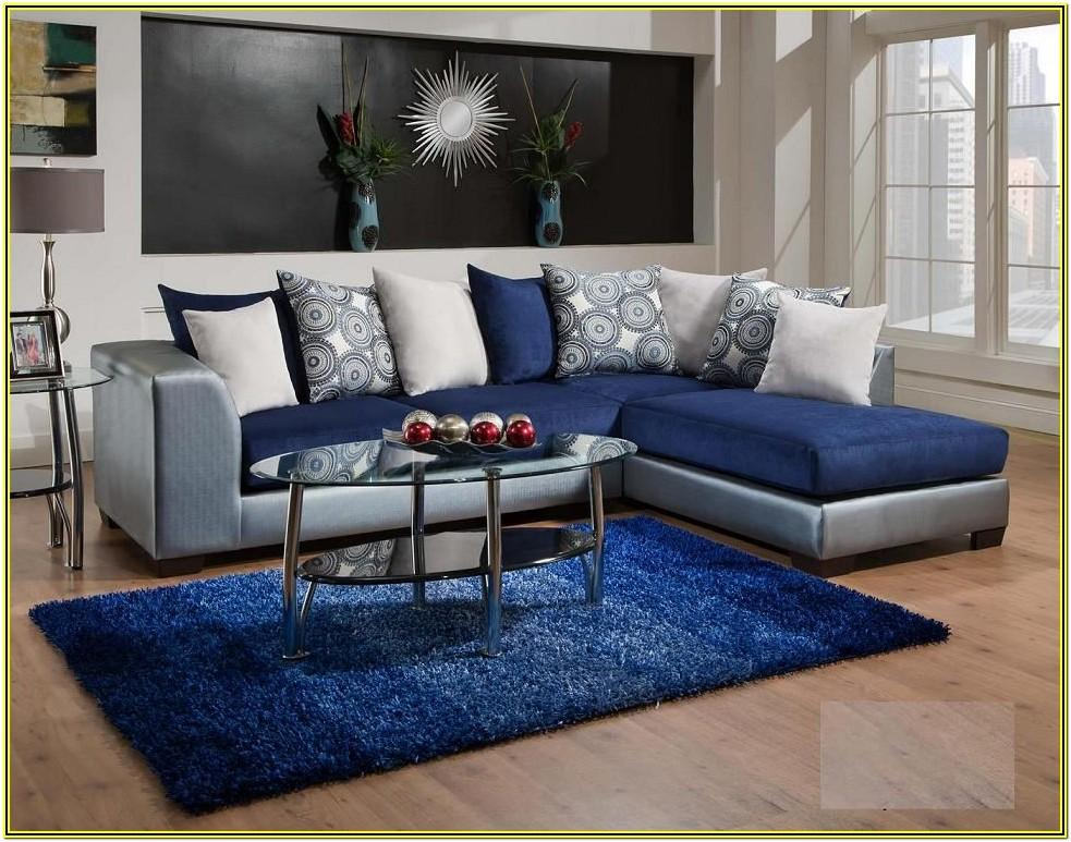 Royal Blue White And Silver Living Room Ideas