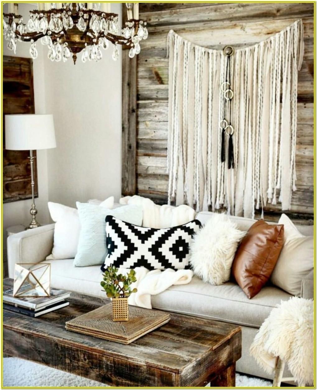 Rustic Bohemian Bohemian Living Room Ideas