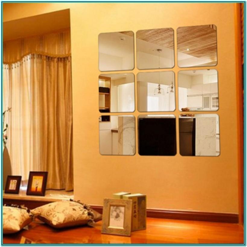 Self Adhesive Mirror Wall Tiles For Living Room