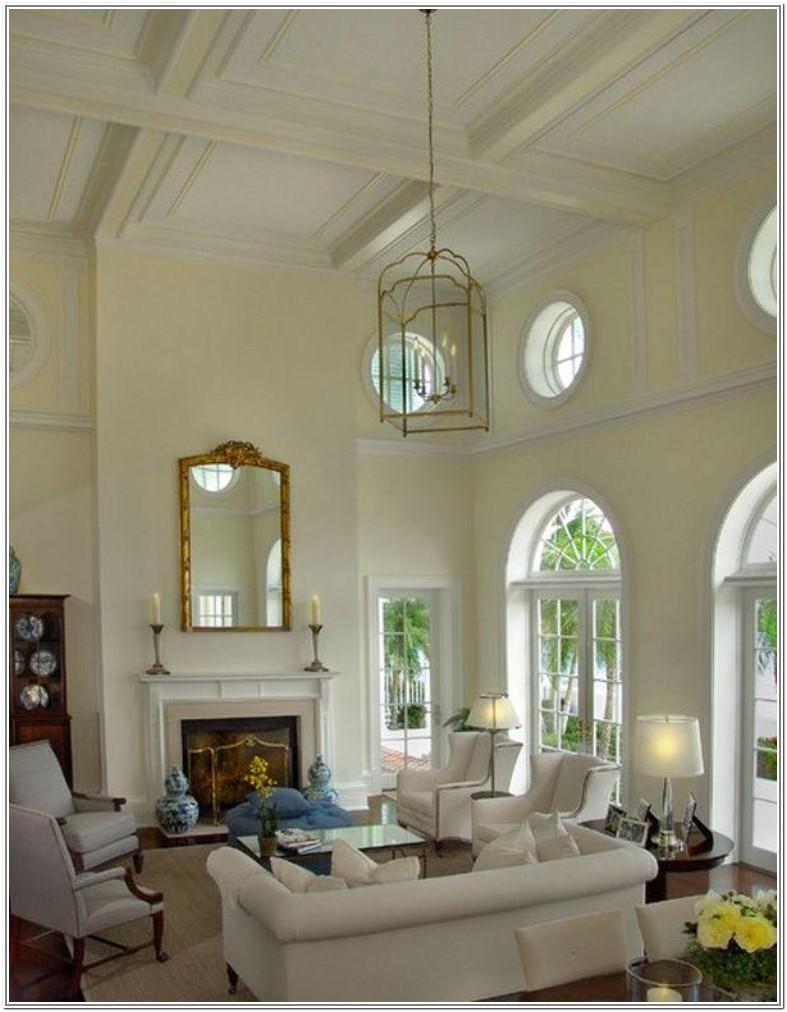 Small High Ceiling Living Room Design Ideas