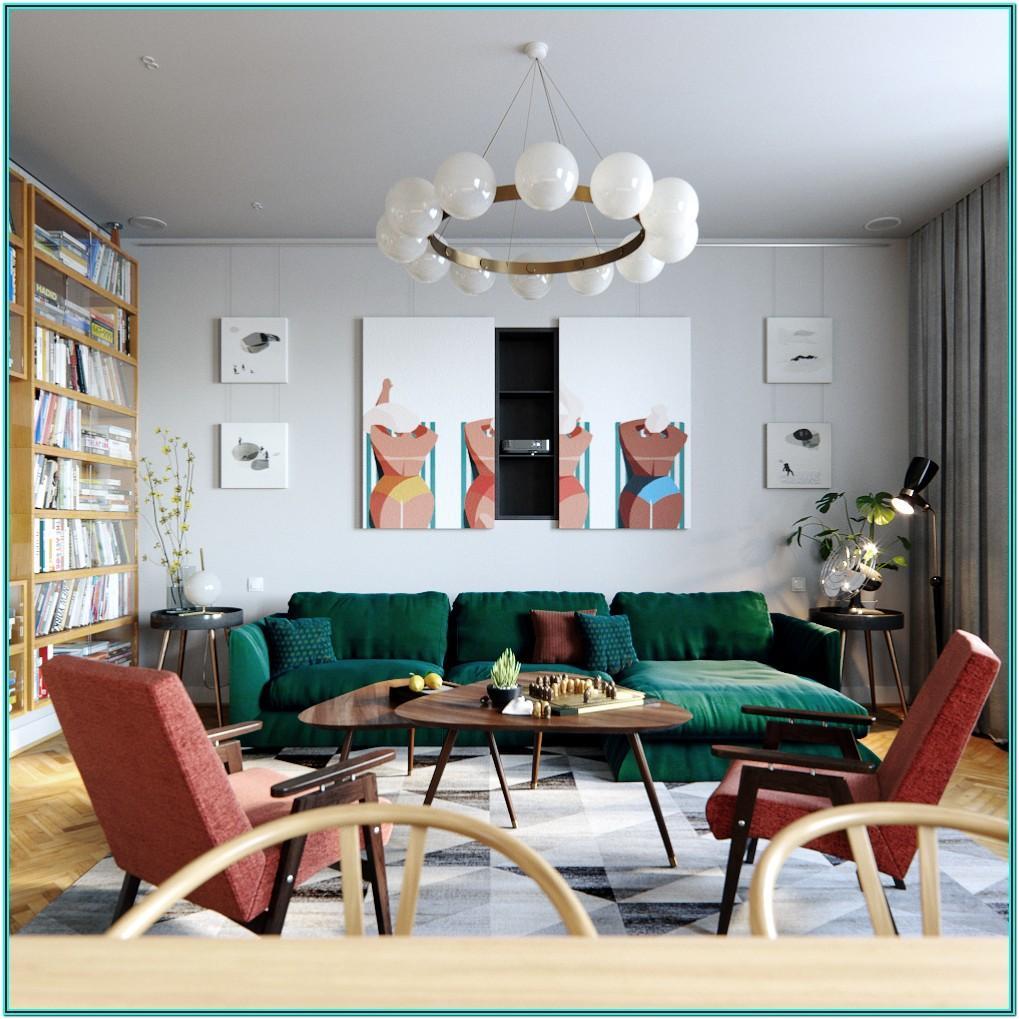Vintage Mid Century Modern Living Room