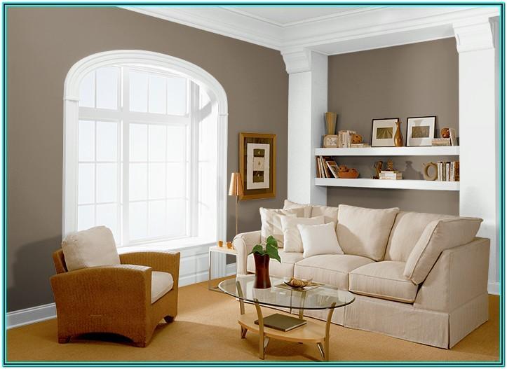 Wall Mocha Color Paint Living Room