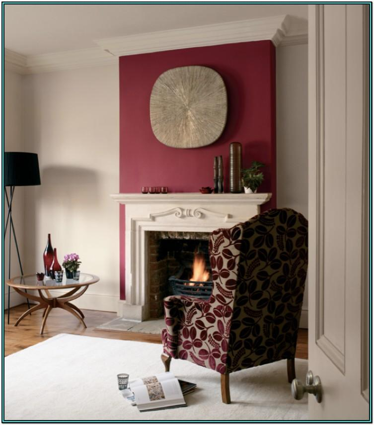 Wallpaper Feature Wall Ideas Living Room With Fireplace