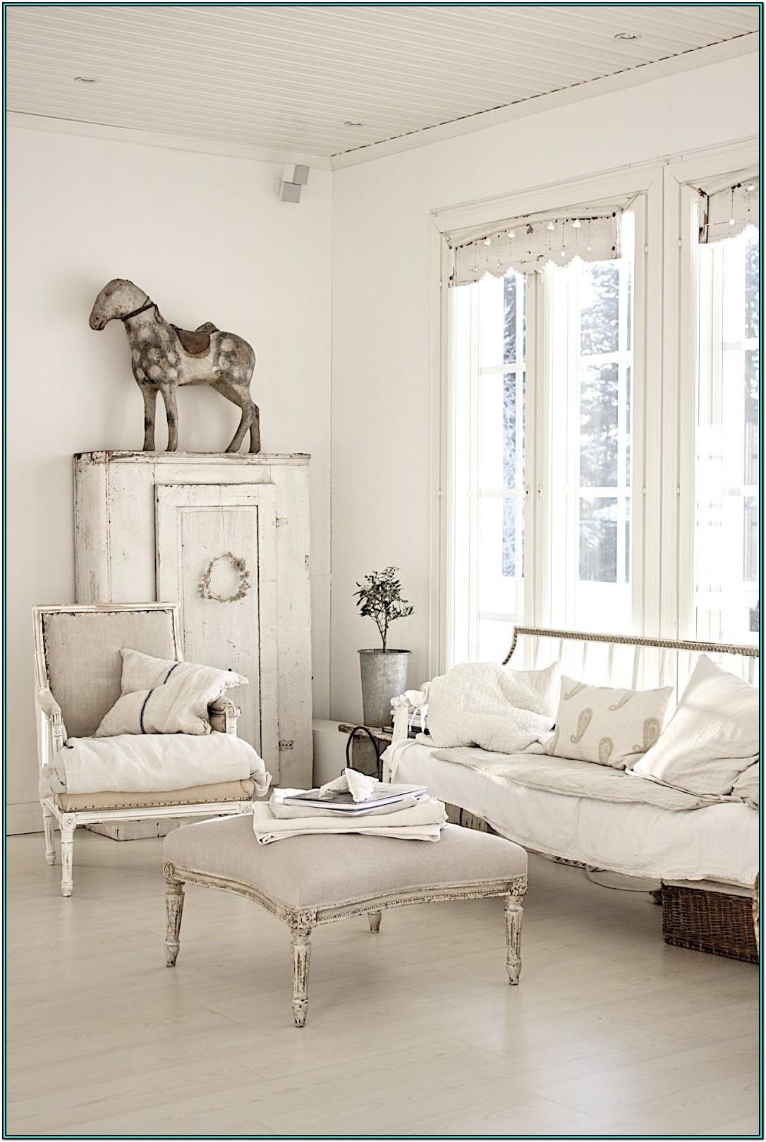White French Country Living Room Ideas