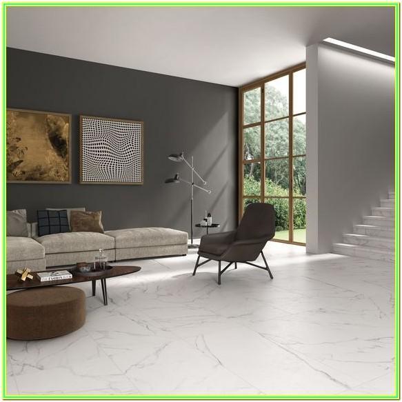 White Modern Style Living Room Floor Tiles