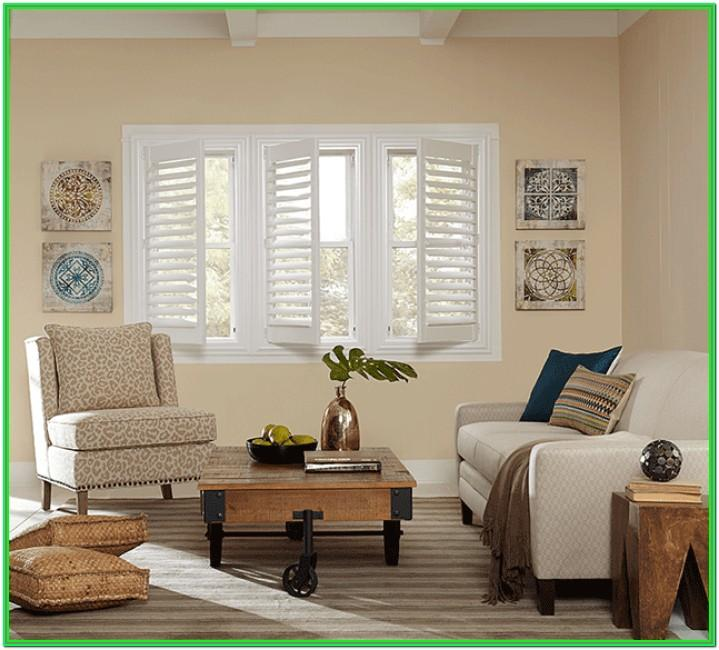 Window Living Room Plantation Shutters