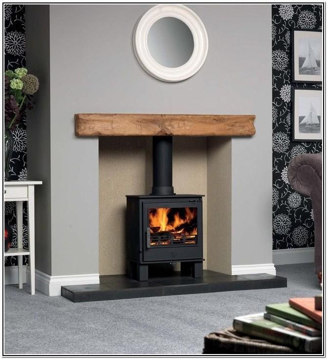 Wood Burning Stove Living Room Decorating Ideas