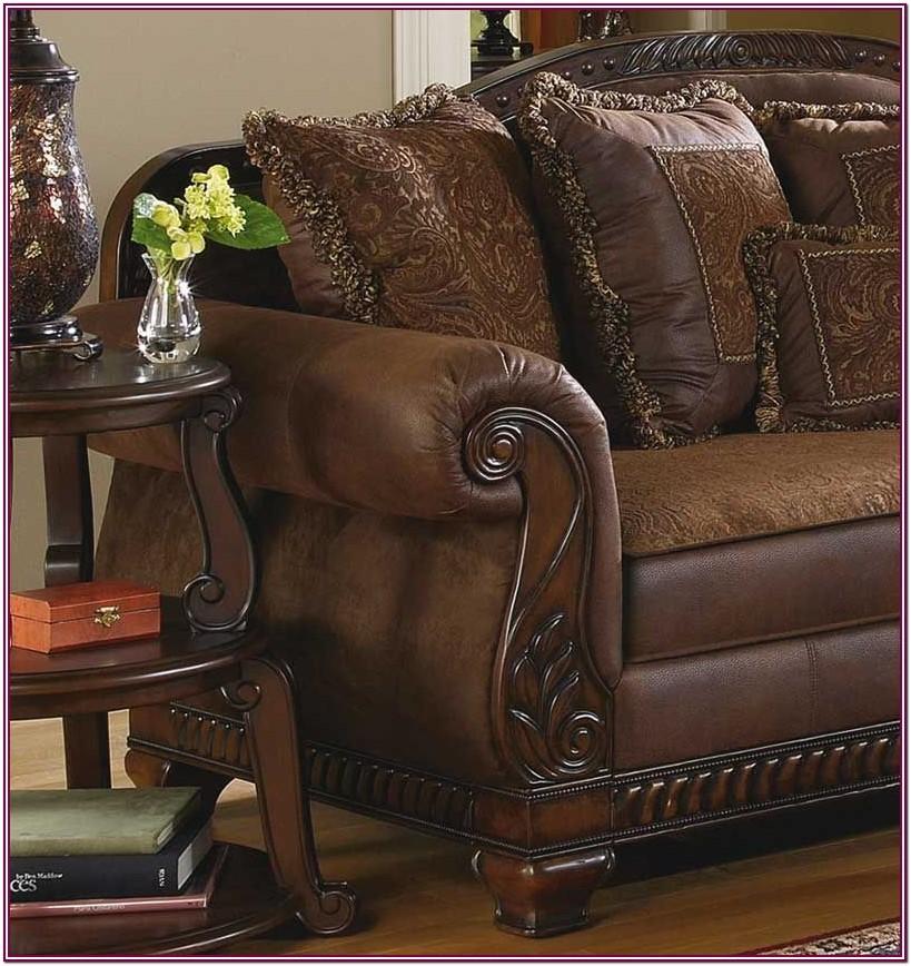 Wood Trim Living Room Furniture