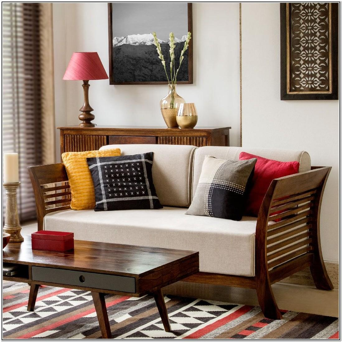 Wooden Sofa Living Room Ideas With Wooden Furniture
