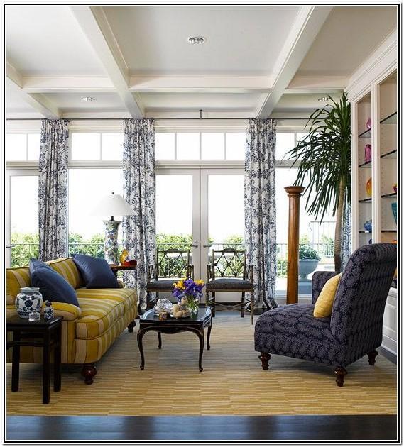 Yellow Navy Blue Living Room Ideas